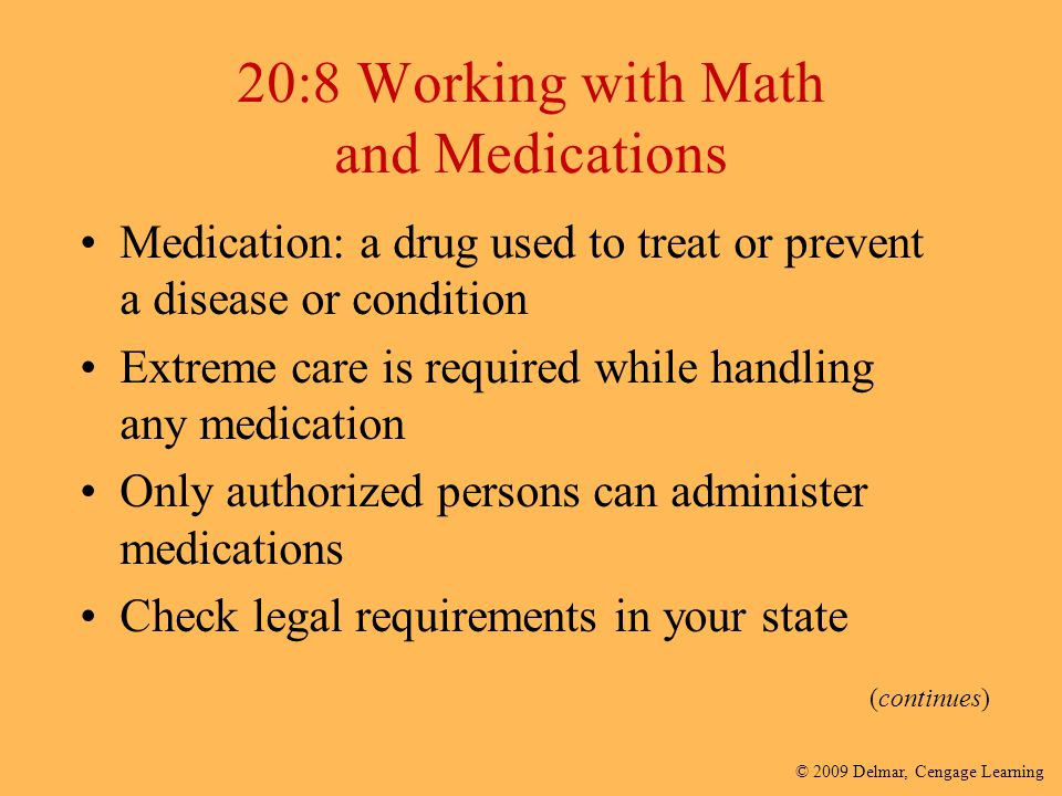 20:8 Working with Math and Medications