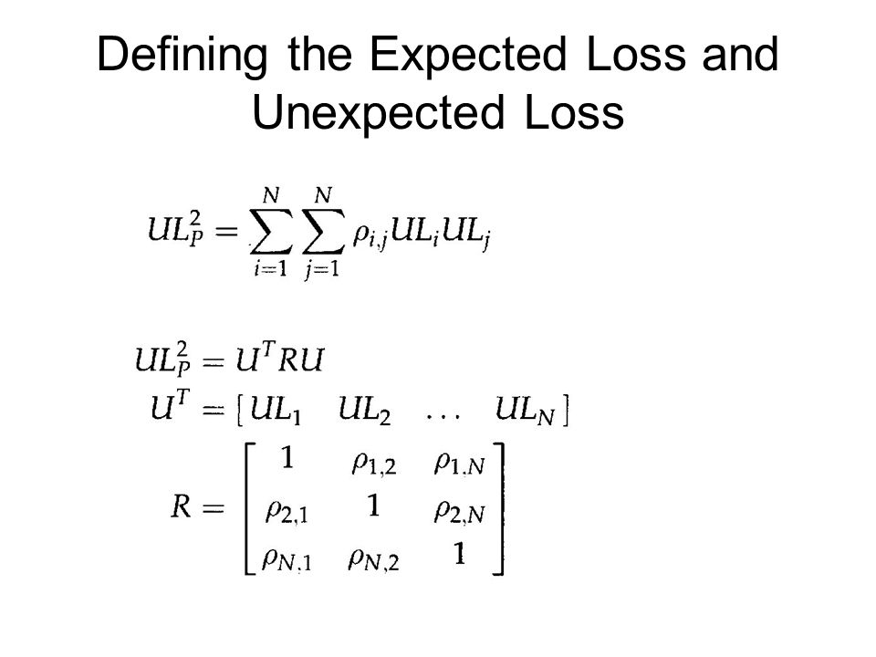 Defining the Expected Loss and Unexpected Loss