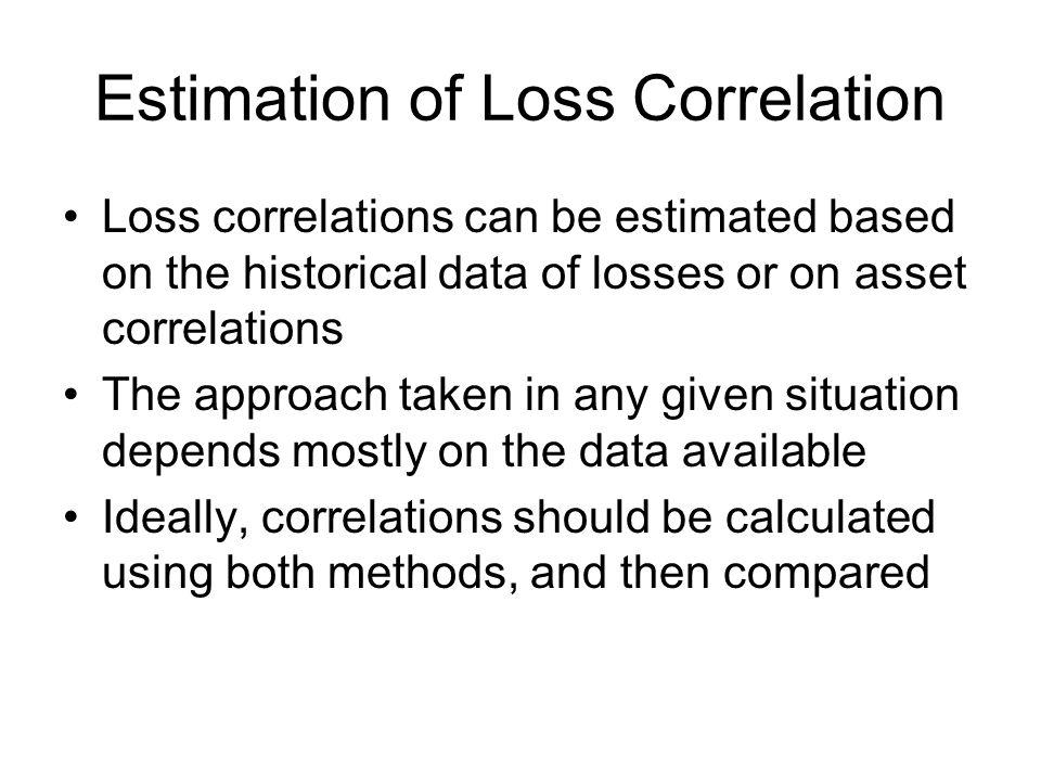 Estimation of Loss Correlation