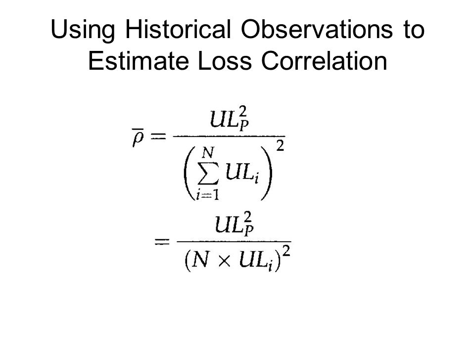 Using Historical Observations to Estimate Loss Correlation