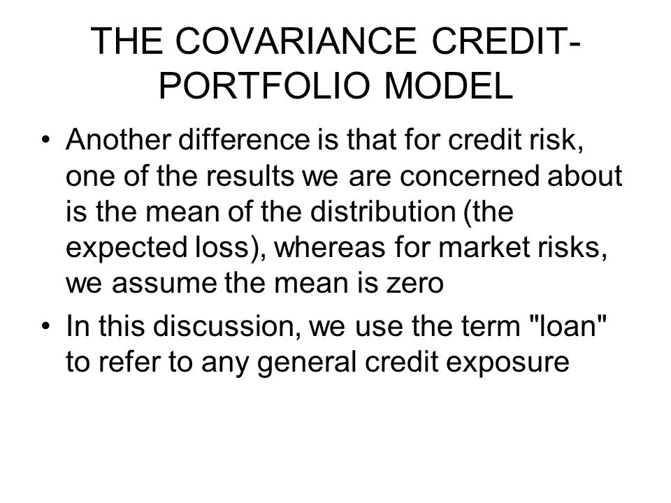 THE COVARIANCE CREDIT-PORTFOLIO MODEL
