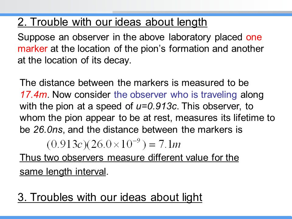 2. Trouble with our ideas about length