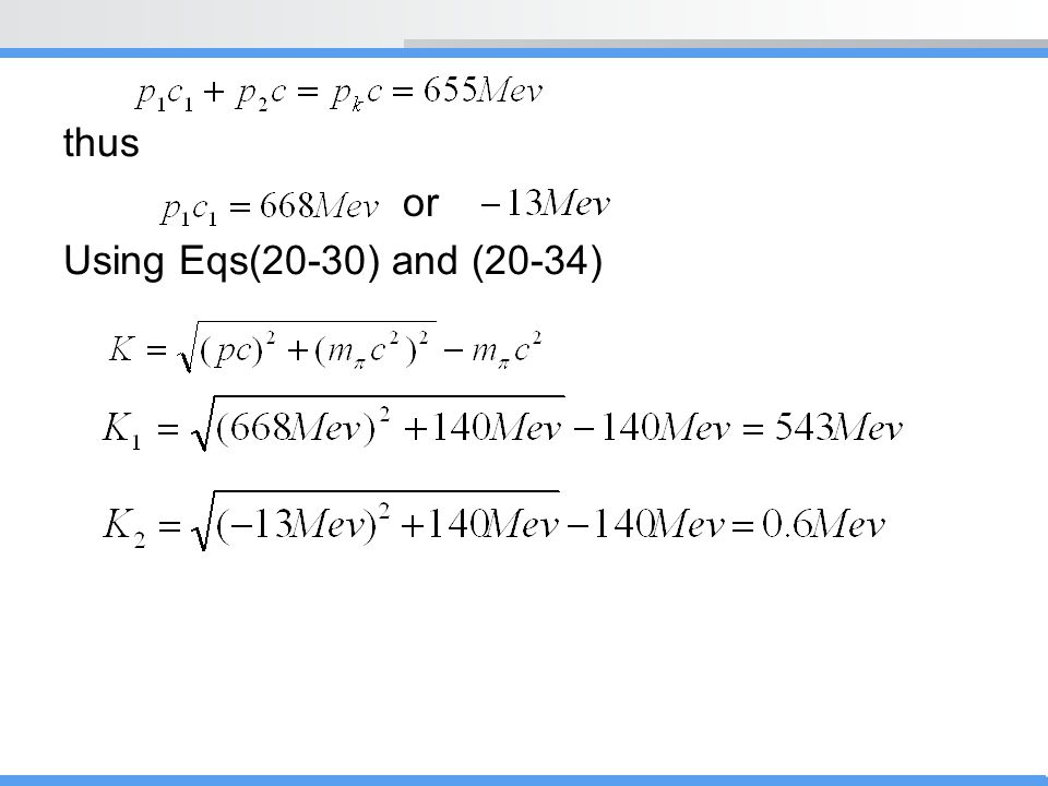 thus Using Eqs(20-30) and (20-34) or