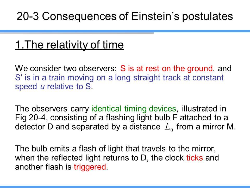 20-3 Consequences of Einstein's postulates