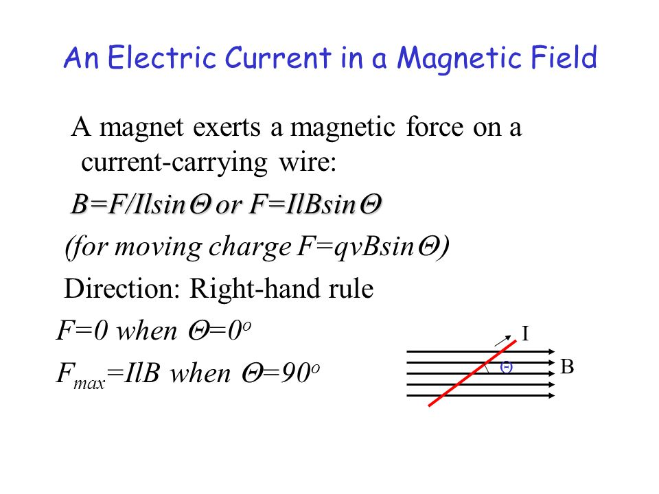 An Electric Current in a Magnetic Field