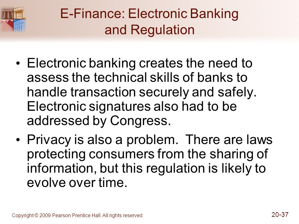 E-Finance: Electronic Banking and Regulation