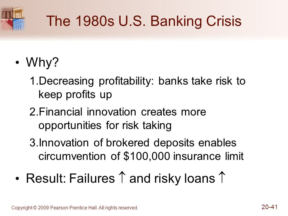 The 1980s U.S. Banking Crisis Why