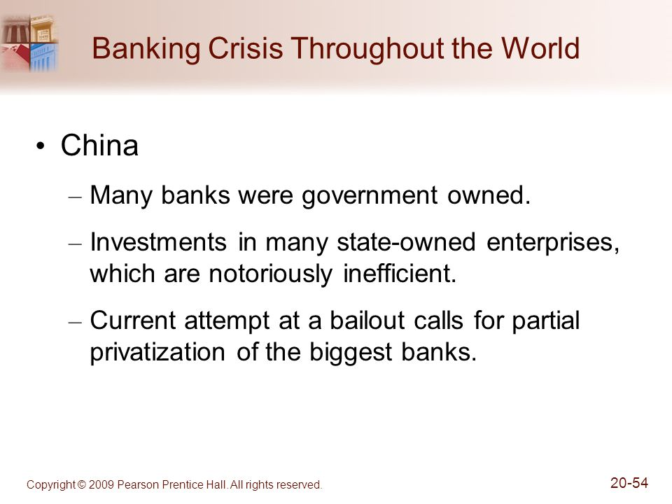 Banking Crisis Throughout the World
