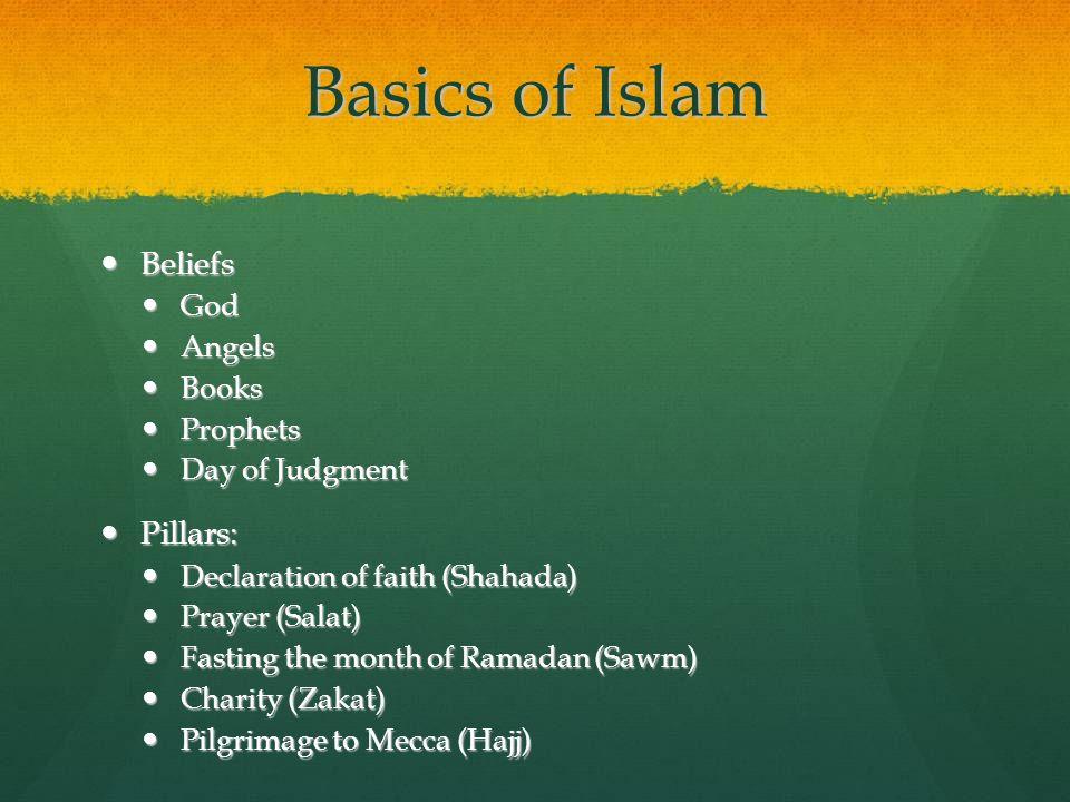 Basics of Islam Beliefs Pillars: God Angels Books Prophets