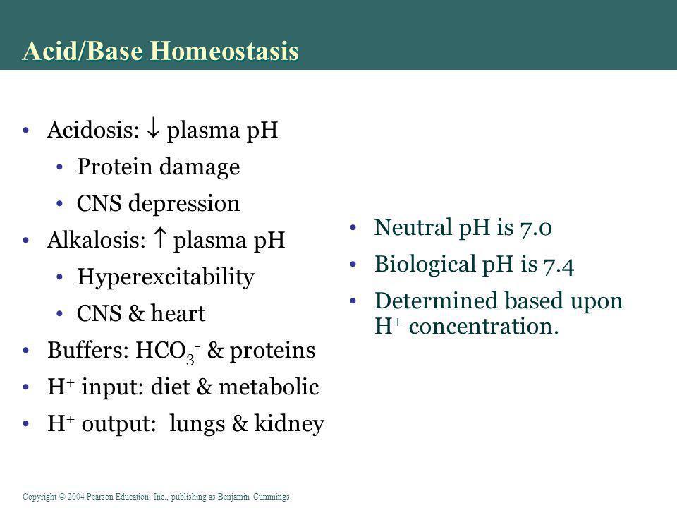 Acid/Base Homeostasis