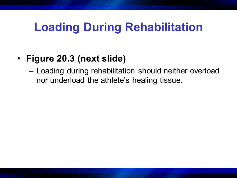 Loading During Rehabilitation