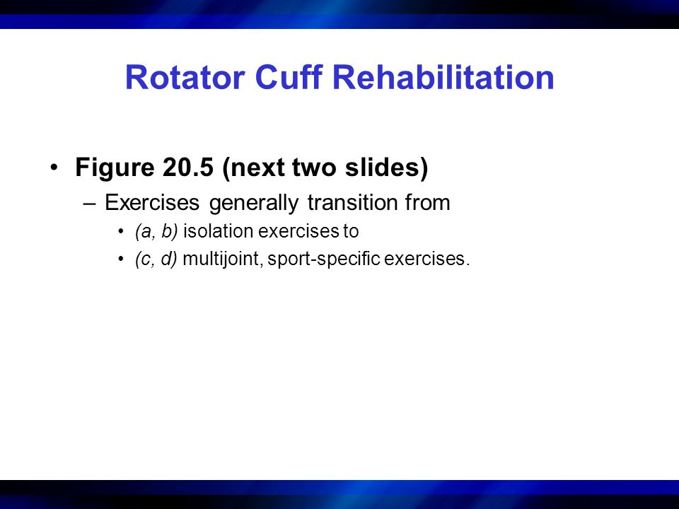 Rotator Cuff Rehabilitation