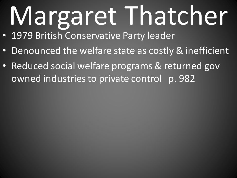 Margaret Thatcher 1979 British Conservative Party leader