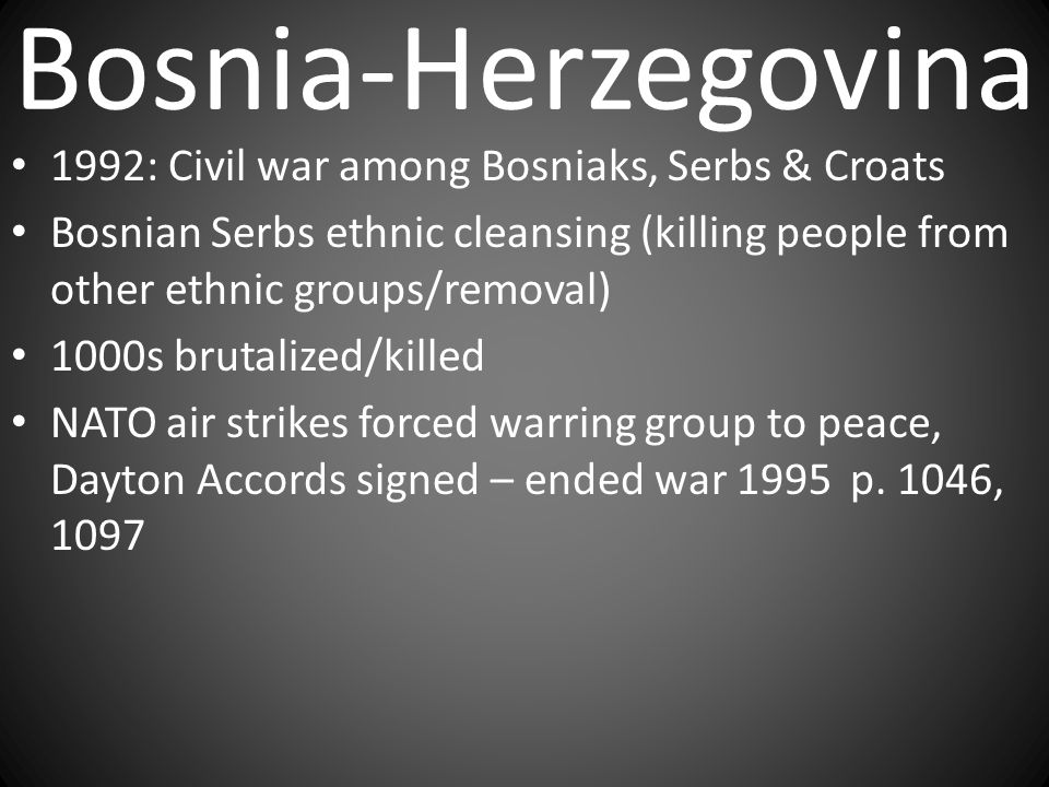 Bosnia-Herzegovina 1992: Civil war among Bosniaks, Serbs & Croats