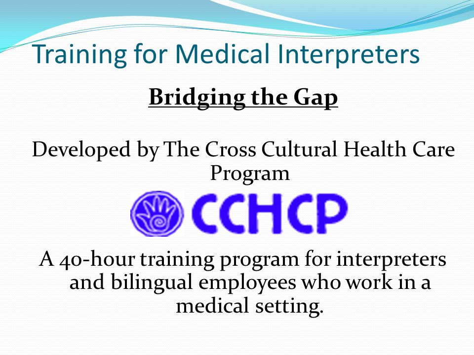 Training for Medical Interpreters