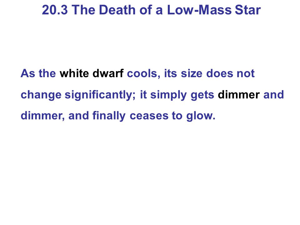 20.3 The Death of a Low-Mass Star