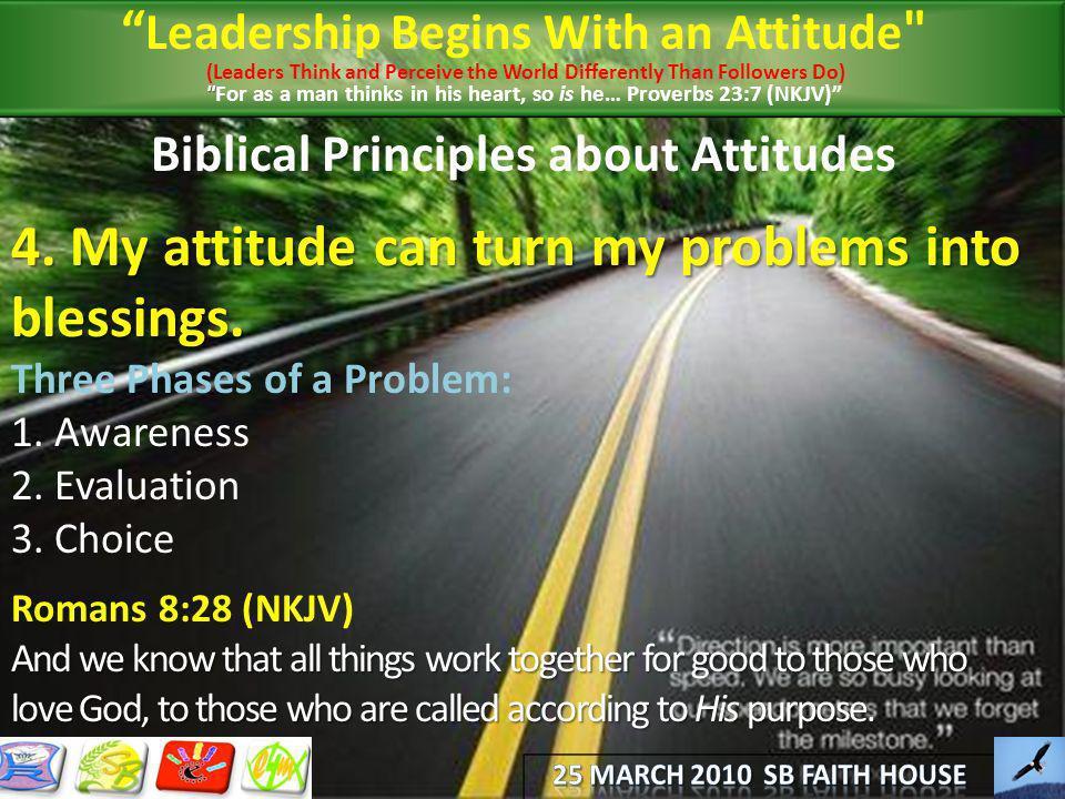 Biblical Principles about Attitudes
