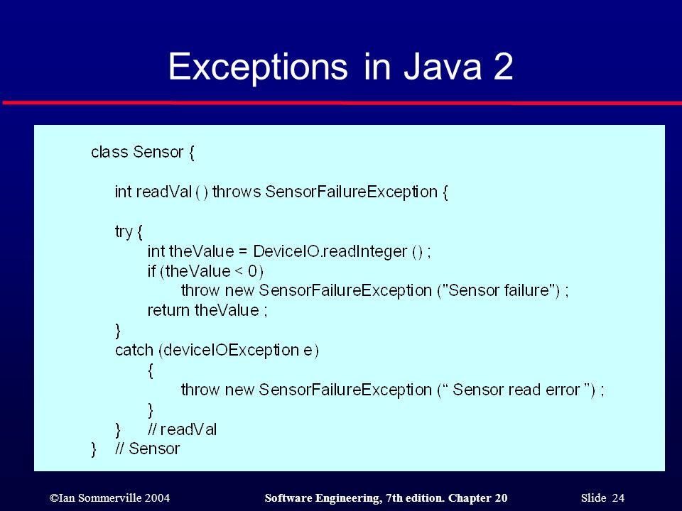 Exceptions in Java 2