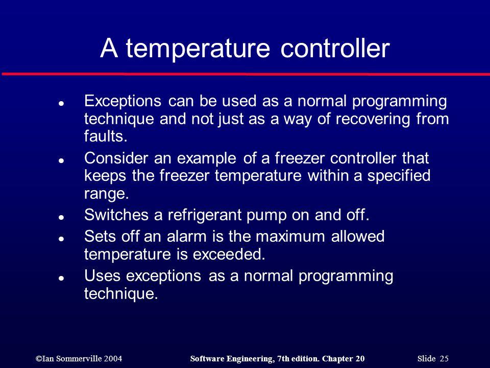 A temperature controller