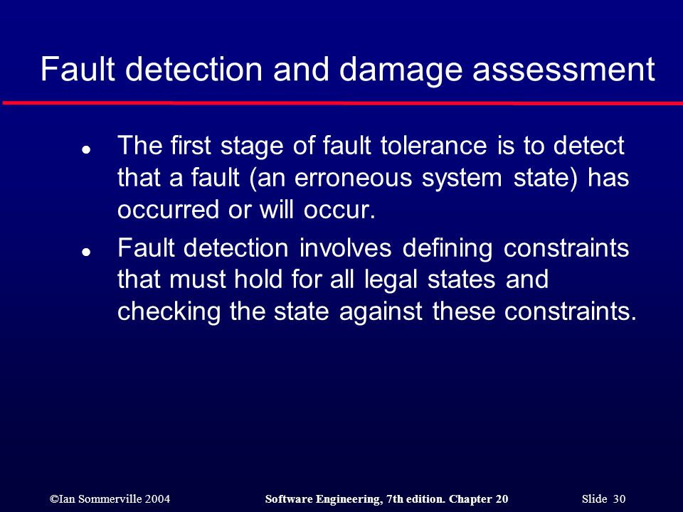 Fault detection and damage assessment
