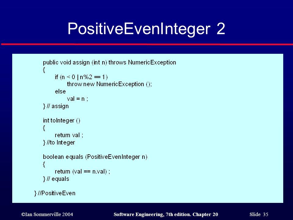 PositiveEvenInteger 2