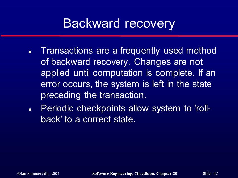 Backward recovery