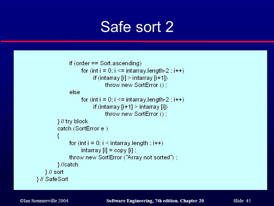 Safe sort 2