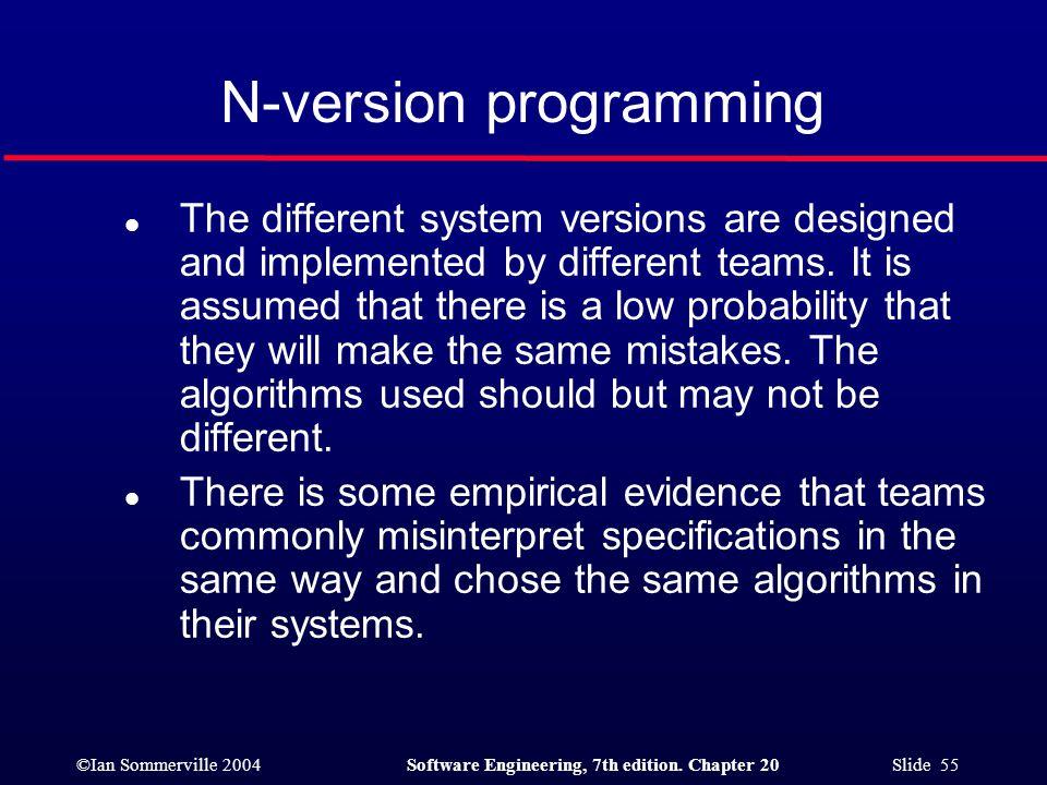 N-version programming
