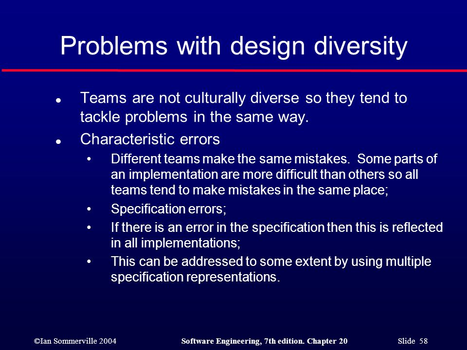 Problems with design diversity