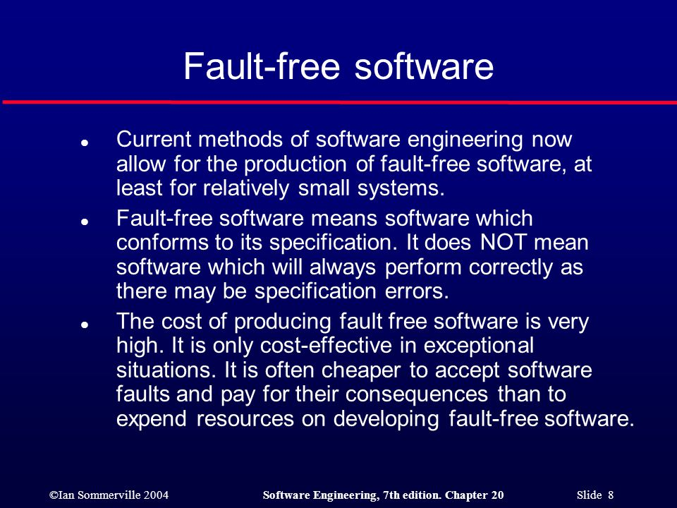 Fault-free software
