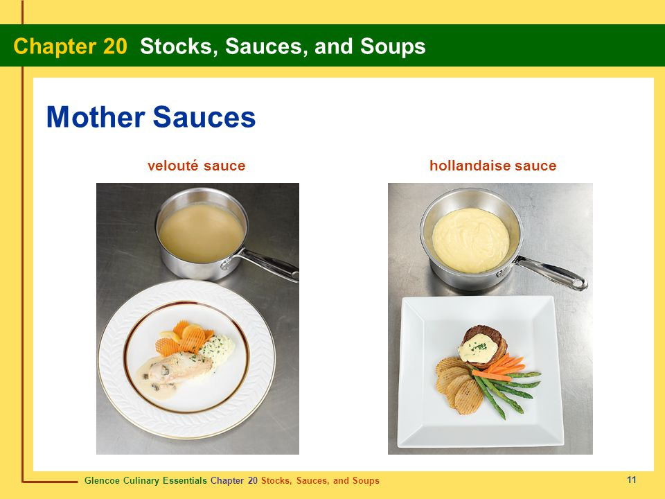 Mother Sauces velouté sauce hollandaise sauce