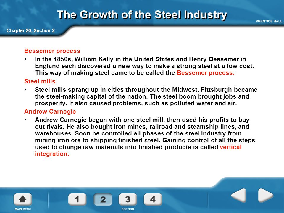 The Growth of the Steel Industry