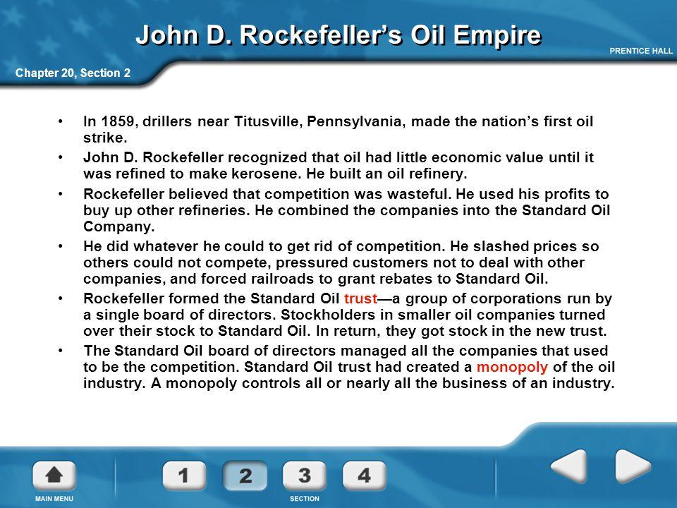 John D. Rockefeller's Oil Empire