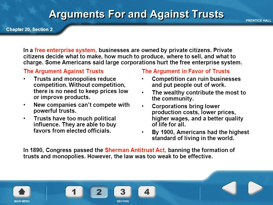 Arguments For and Against Trusts