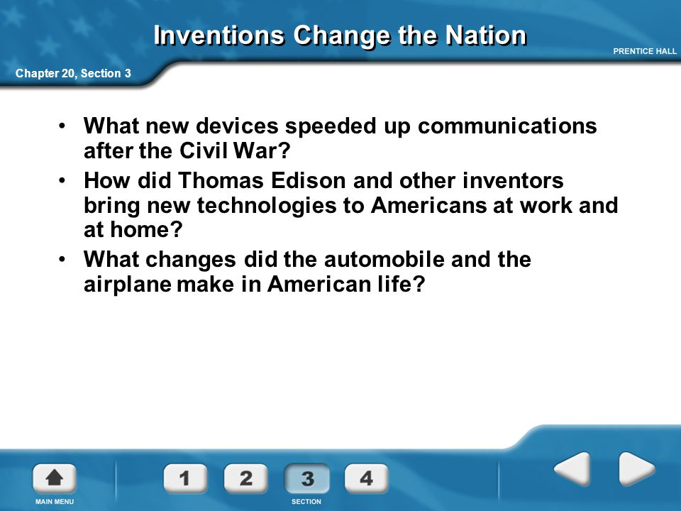 Inventions Change the Nation