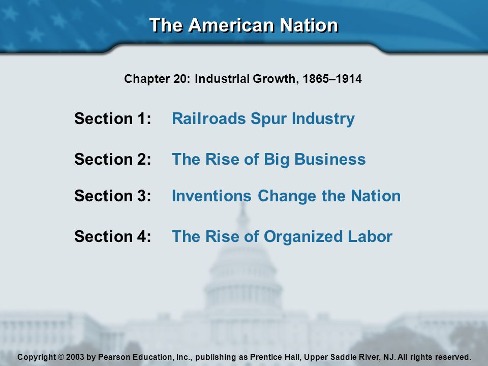 Chapter 20: Industrial Growth, 1865–1914
