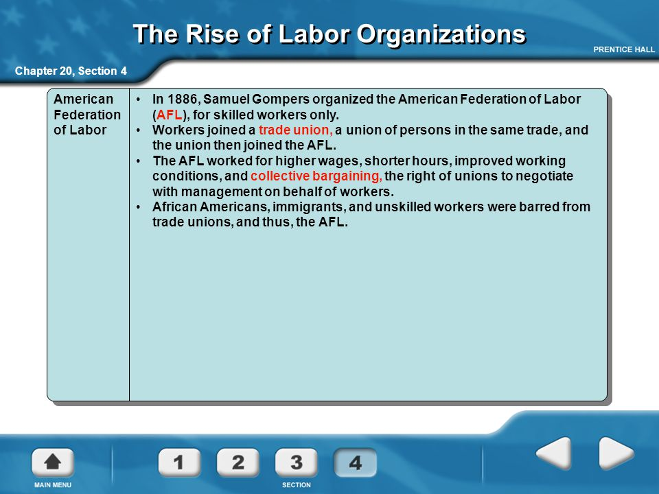 The Rise of Labor Organizations