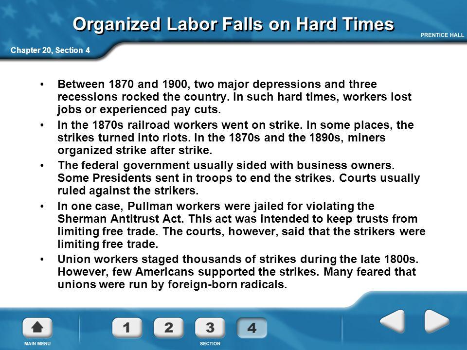 Organized Labor Falls on Hard Times