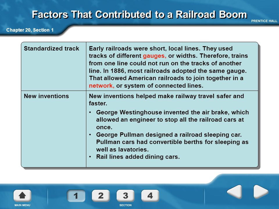 Factors That Contributed to a Railroad Boom