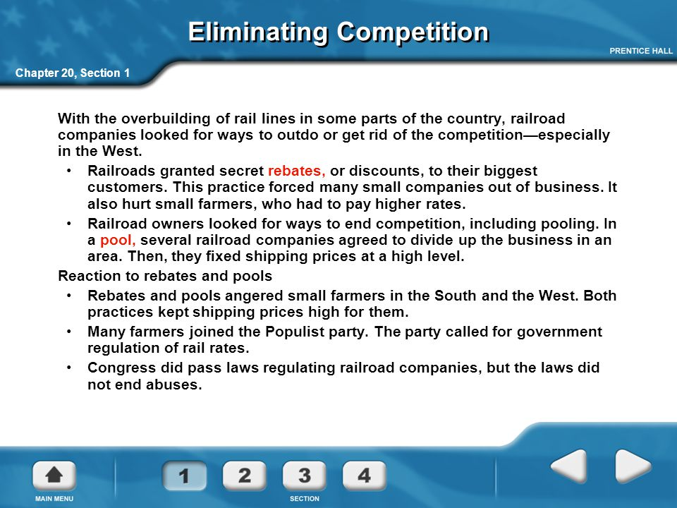 Eliminating Competition
