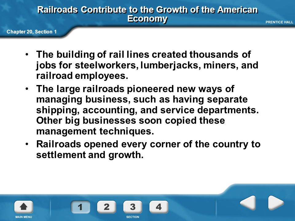Railroads Contribute to the Growth of the American Economy
