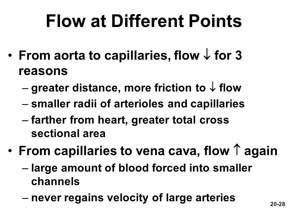 Flow at Different Points