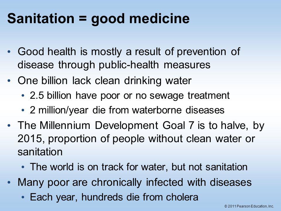 Sanitation = good medicine