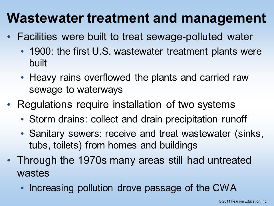 Wastewater treatment and management