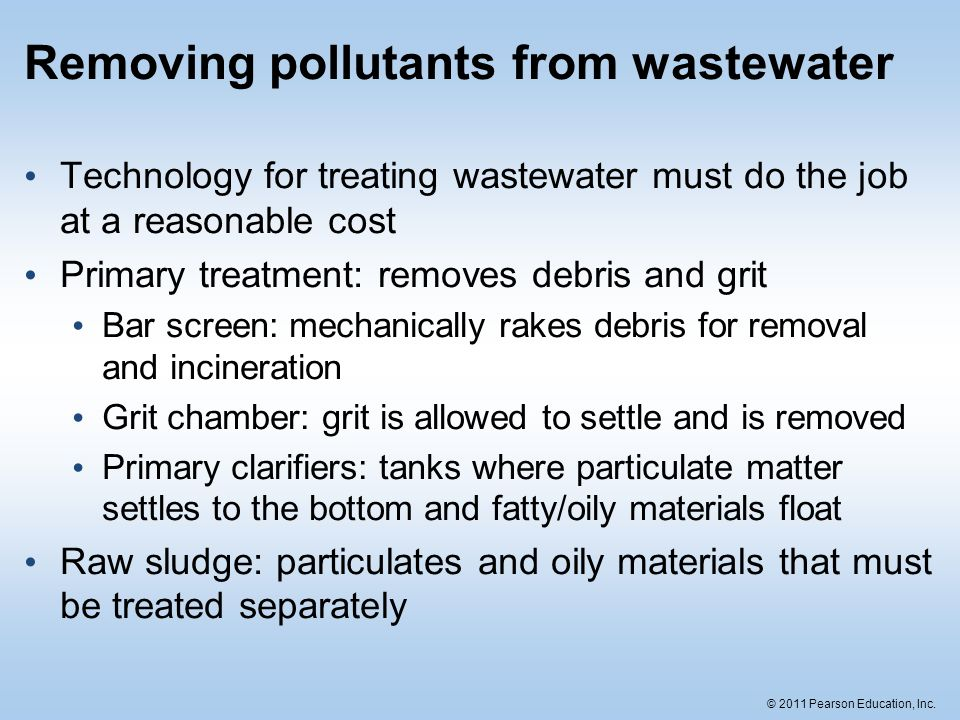 Removing pollutants from wastewater