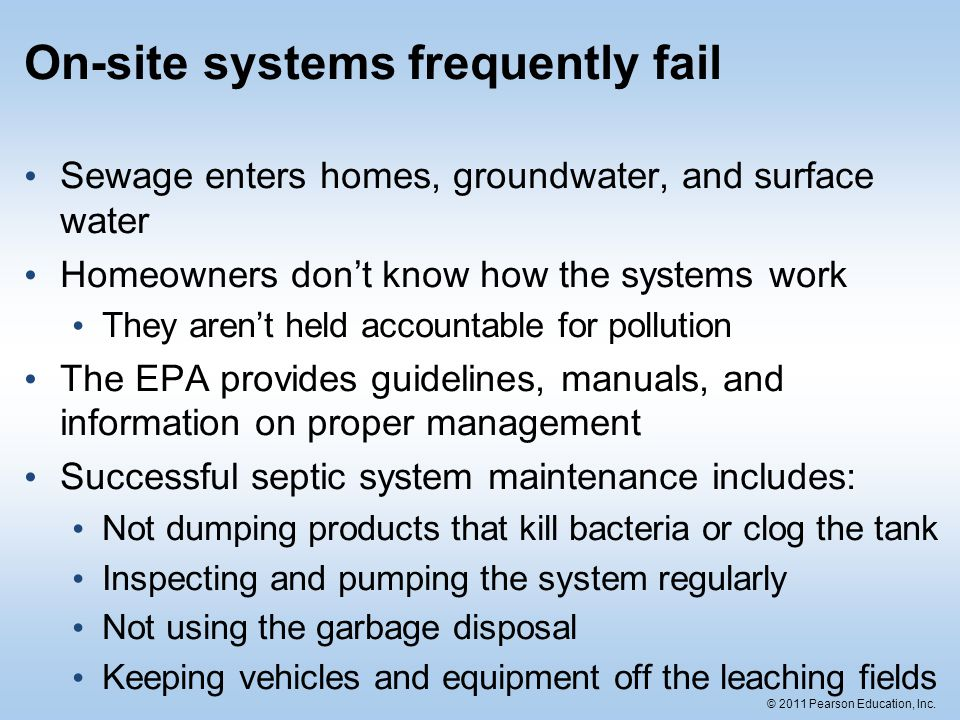 On-site systems frequently fail