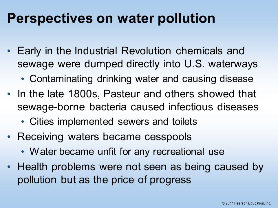 Perspectives on water pollution