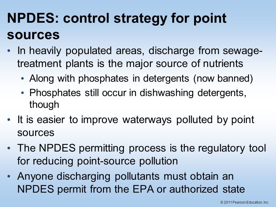 NPDES: control strategy for point sources
