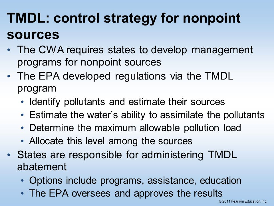 TMDL: control strategy for nonpoint sources