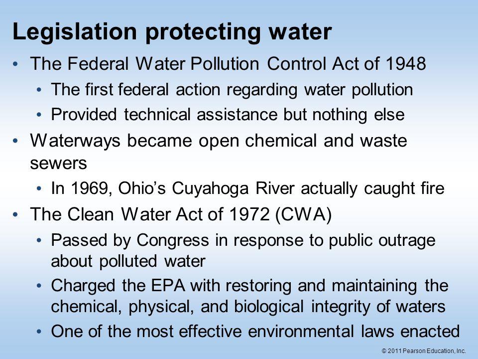 Legislation protecting water